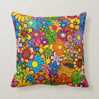 Flower Power! Throw Pillow