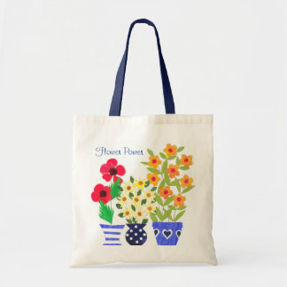 'Flower Power' Tote Bag Budget Tote Bag