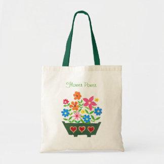 Flower Power Tote Bag Budget Tote Bag