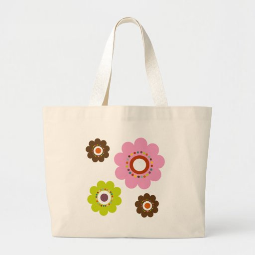 Flower Power Tote or Cloth Grocery Bag