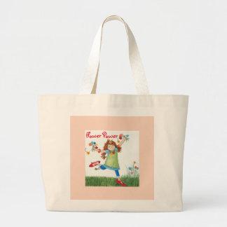 Flower Power Tote Jumbo Tote Bag