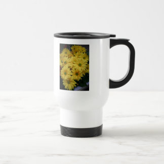 Flower Power Yellow! Stainless Steel Travel Mug