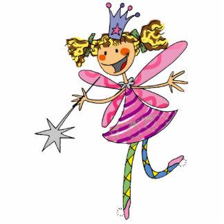 Flower princess fairy standing photo sculpture