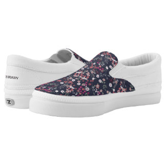 Flower Printed Slip On Shoes