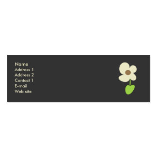 Flower Profile Card - Social Networking Card Business Card Template