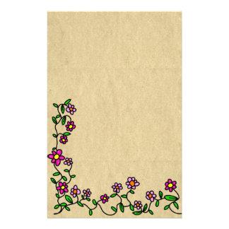 Flower Prose Stationary Stationery