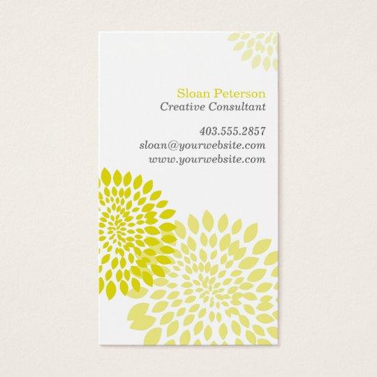 Flower Puff Green Business Card