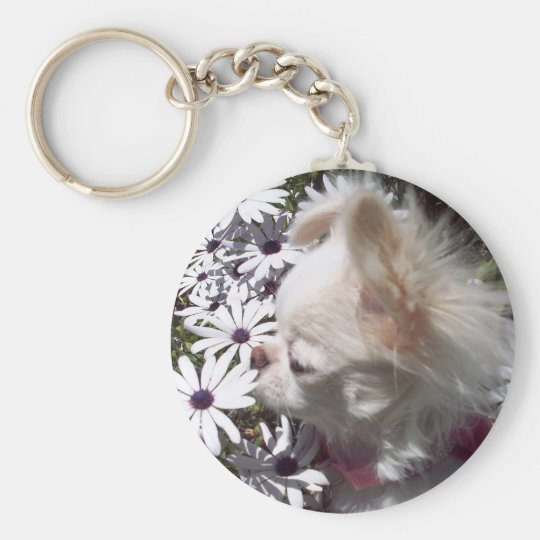 Flower Puppy Keychain