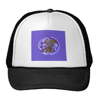 Flower purple in the globe cap