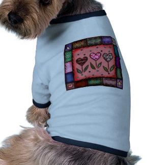 Flower Quilt Pet T Shirt
