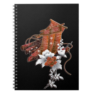 Flower raft japanese pattern notebooks