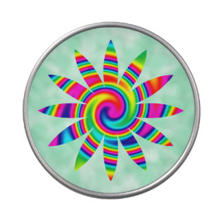 Flower Rainbow Twirl Jelly Belly Tin