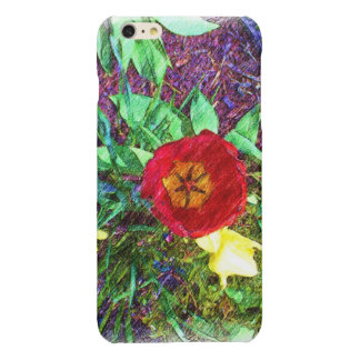 Flower red Tulip drawing iPhone 6 Plus Case