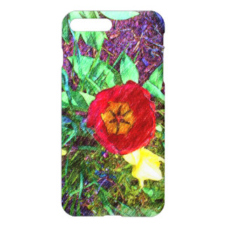 Flower red Tulip drawing iPhone 7 Plus Case