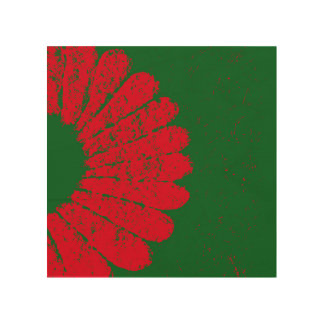 flower red wood wall art