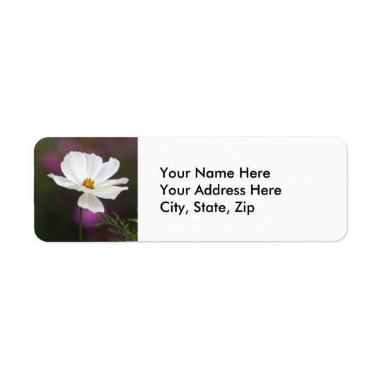 Flower Return Address Label