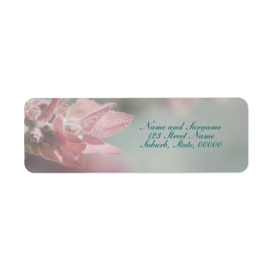 Flower return address label customisable tags