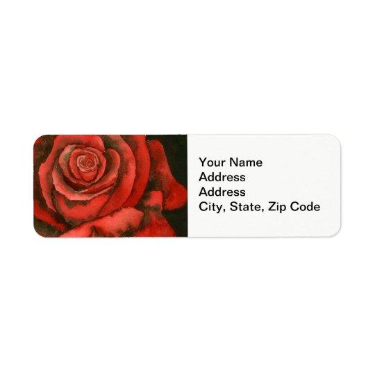 Flower Return Address Label, rose