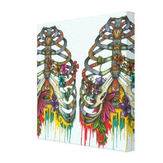 Flower Rib Cage Canvas Print
