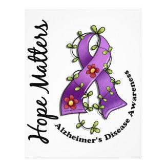 Flower Ribbon 4 Hope Matters Alzheimer's Disease Full Color Flyer