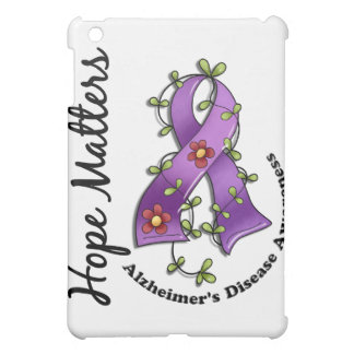 Flower Ribbon 4 Hope Matters Alzheimer's Disease iPad Mini Cover
