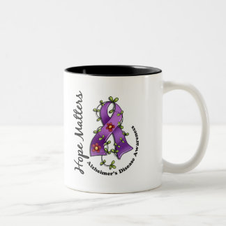 Flower Ribbon 4 Hope Matters Alzheimer's Disease Coffee Mug