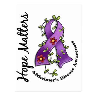 Flower Ribbon 4 Hope Matters Alzheimer's Disease Postcard