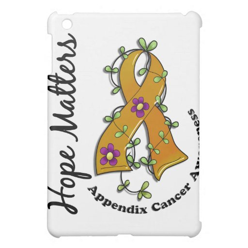 Flower Ribbon 4 Hope Matters Appendix Cancer iPad Mini Covers