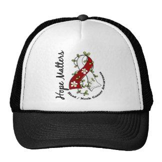 Flower Ribbon 4 Hope Matters Head Neck Cancer Mesh Hats