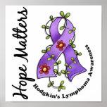 Flower Ribbon 4 Hope Matters Hodgkin's Lymphoma