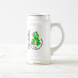 Flower Ribbon 4 Hope Matters Lyme Disease Beer Steins