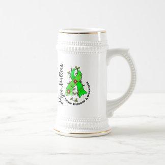 Flower Ribbon 4 Hope Matters Lyme Disease 18 Oz Beer Stein