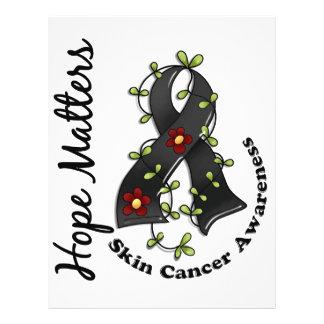 Flower Ribbon 4 Hope Matters Skin Cancer Custom Flyer