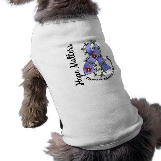 Flower Ribbon 4 Hope Matters Thyroid Disease Doggie Tshirt