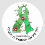 Flower Ribbon ORGAN DONATION AWARENESS Apparel