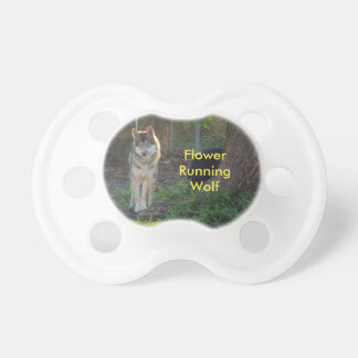 Flower Running Wolf pacifier