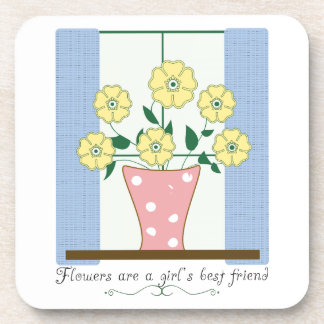 Flower s Are A Girl s Best Friend Drink Coasters