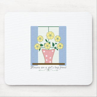 Flower s Are A Girl s Best Friend Mouse Pads