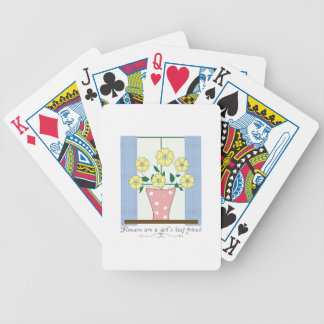 Flower s Are A Girl s Best Friend Bicycle Poker Cards
