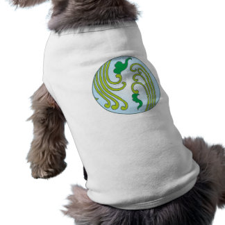Flower sample circle floral pattern circle sleeveless dog shirt