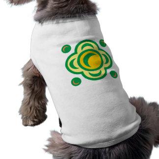 Flower sample square floral pattern square sleeveless dog shirt