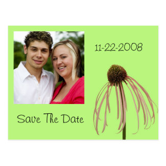 Flower save the date! postcard