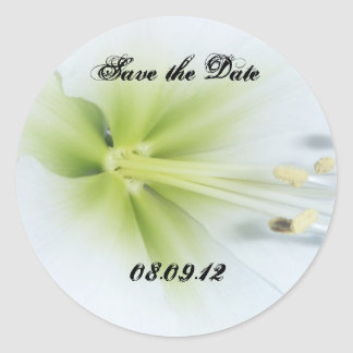 Flower Save The Date Sticker