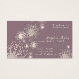 Flower Scribble Purple • Mommy Business Card