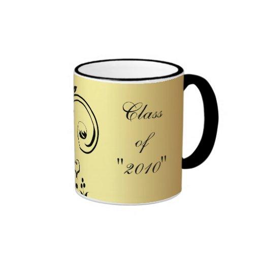 "Flower Scrollwork ""Class Of "" Graduation Mug"