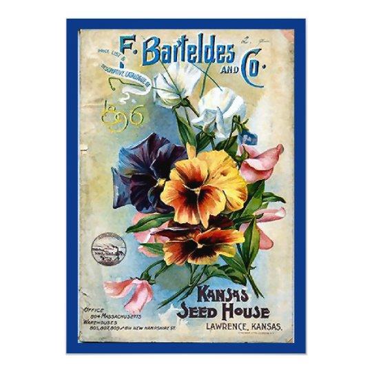 Flower Seed Packs Vintage Art Card