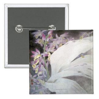 Flower Seires II- Phaiuses 15 Cm Square Badge