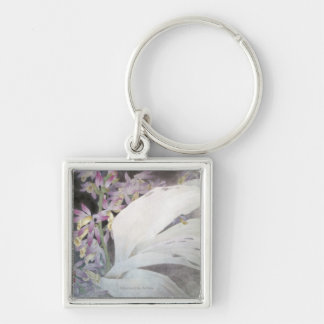 Flower Seires II- Phaiuses Silver-Colored Square Key Ring