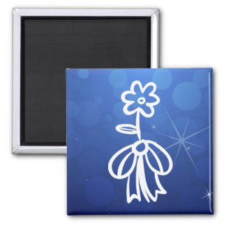 Flower Sexies Minimal Square Magnet