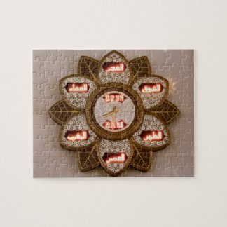 Flower shaped clock, Sheikh Zayed Grand mosque Jigsaw Puzzle
